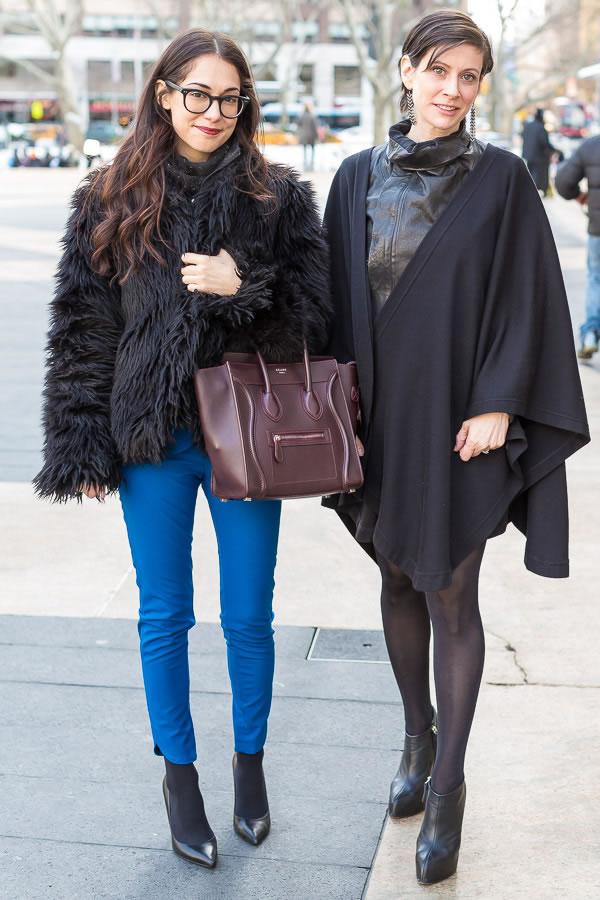All black | Having twice the fun at New York Fashion Week | 40plusstyle.com