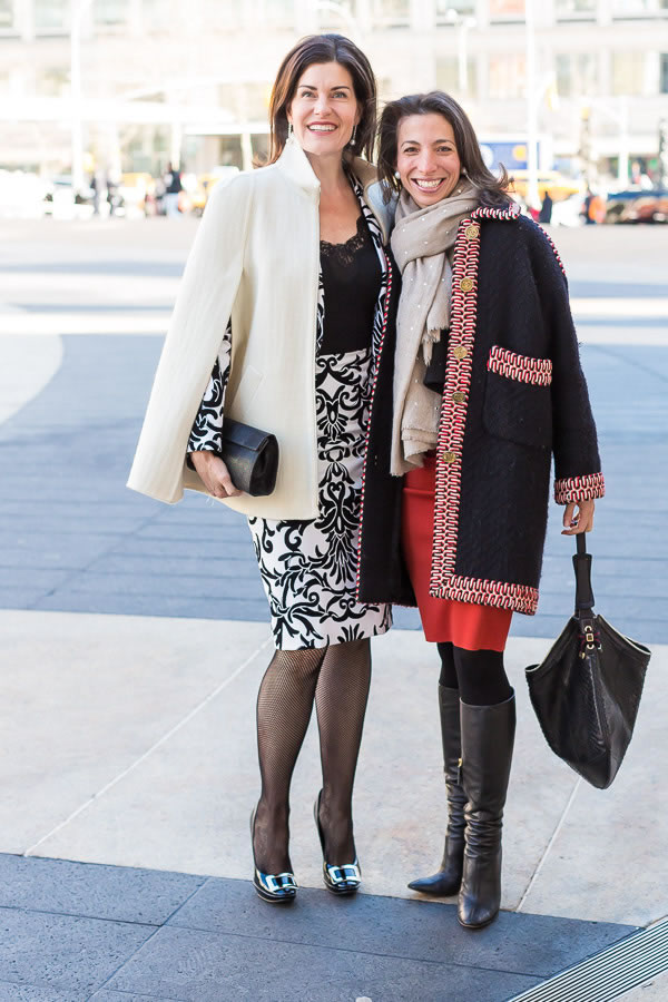Attention New York Fashion week with a friend | 40plusstyle.com