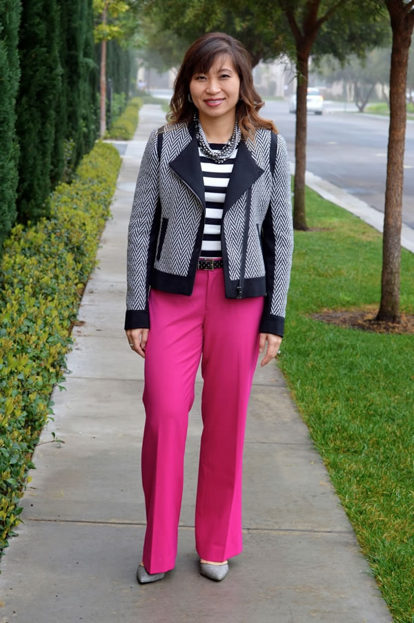 pink pants | 40plusstyle.com