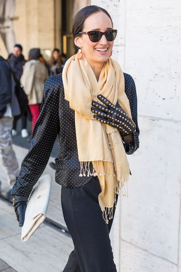 Making a statement with a warm scarf | 40PlusStyle.com