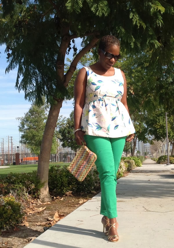 Sunny in cream and green | 40plusstyle.com