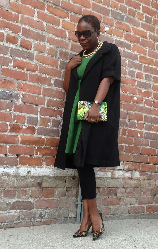 Sophisticated in green and black | 40plusstyle.com