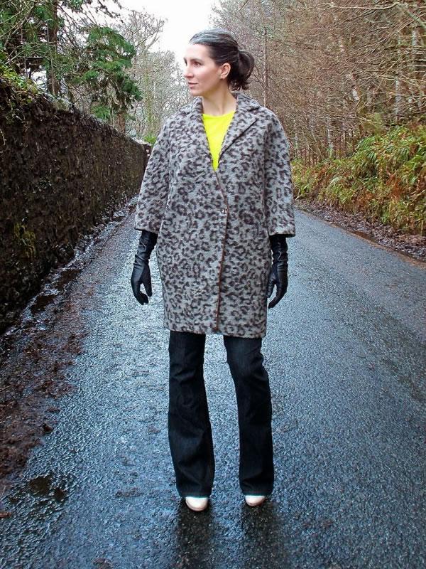 leopard Thakoon coat | 40plusstyle.com