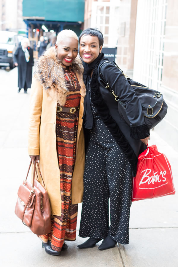 Great street style at the Manhattan Vintage show in New York | 40plusstyle.com