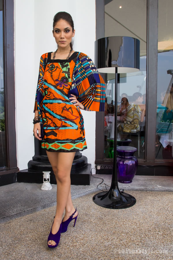 colorful short dress with sleeves