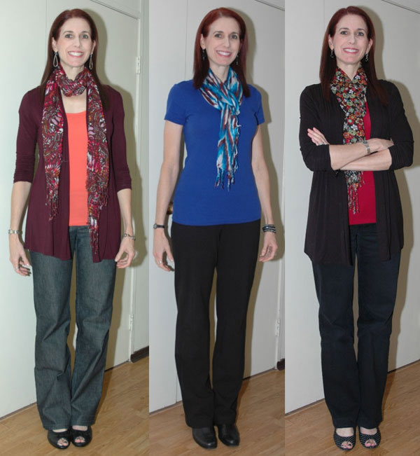 Debbie wearing scarves | 40plusstyle.com