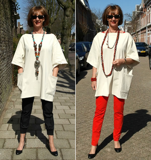 Greetje wearing her beloved Acne tunic | 40plusstyle.com