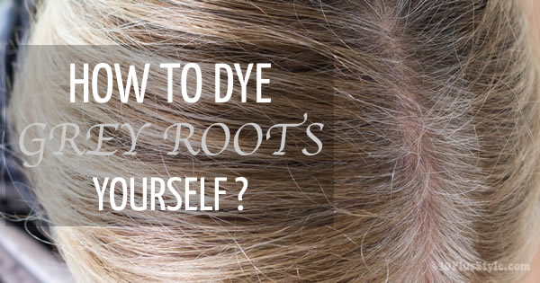How to dye grey roots yourself | 40plusstyle.com