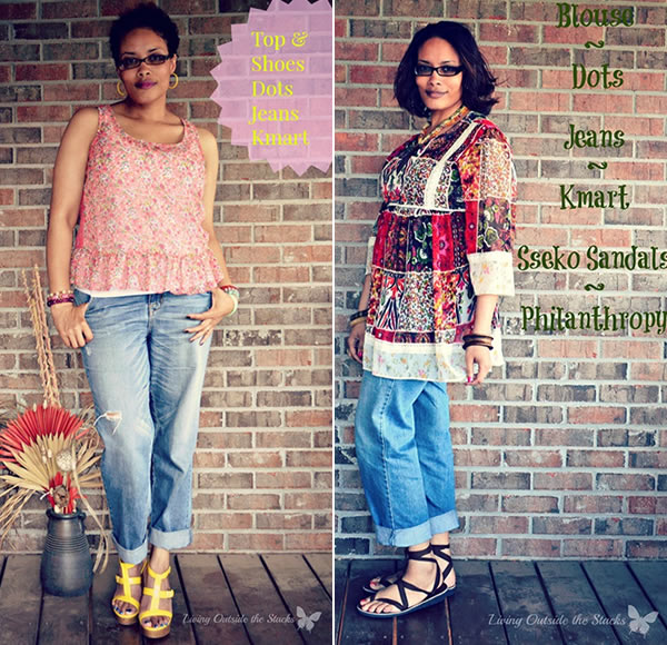 Looking bohemian chic with boyfriend jeans and printed tops - Daenel | 40plusstyle.com