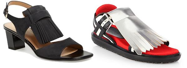 summer 2014 shoe trend - fringes | 40plusstyle.com