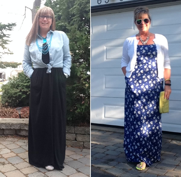How to wear a maxi dress or maxi skirt?