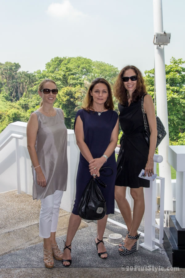 Neutral dresses as worn during a Singapore fashion lunch | 40plusstyle.com