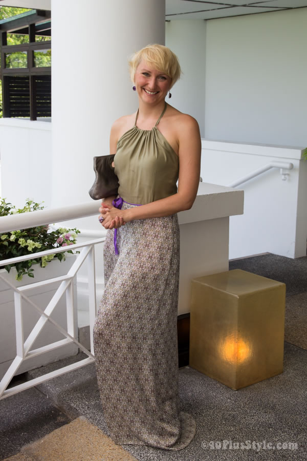 beautiful maxi dress | 40plusstyle.com