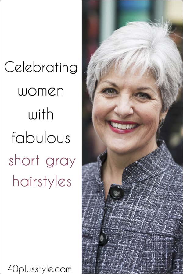Celebrating Women With Fabulous Short Gray Hairstyles