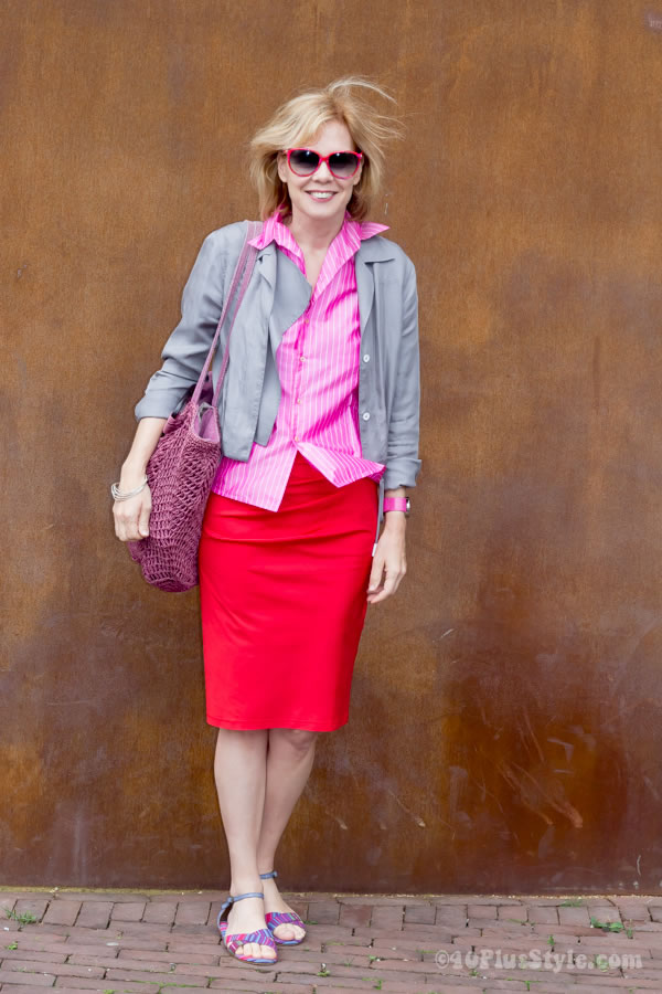 Bright colors on a miserable day | 40plusstyle.com