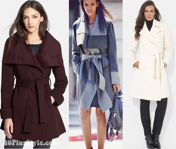 Belted coats to accentuate your waist and give you an hourglass shape | 40plusstyle.com