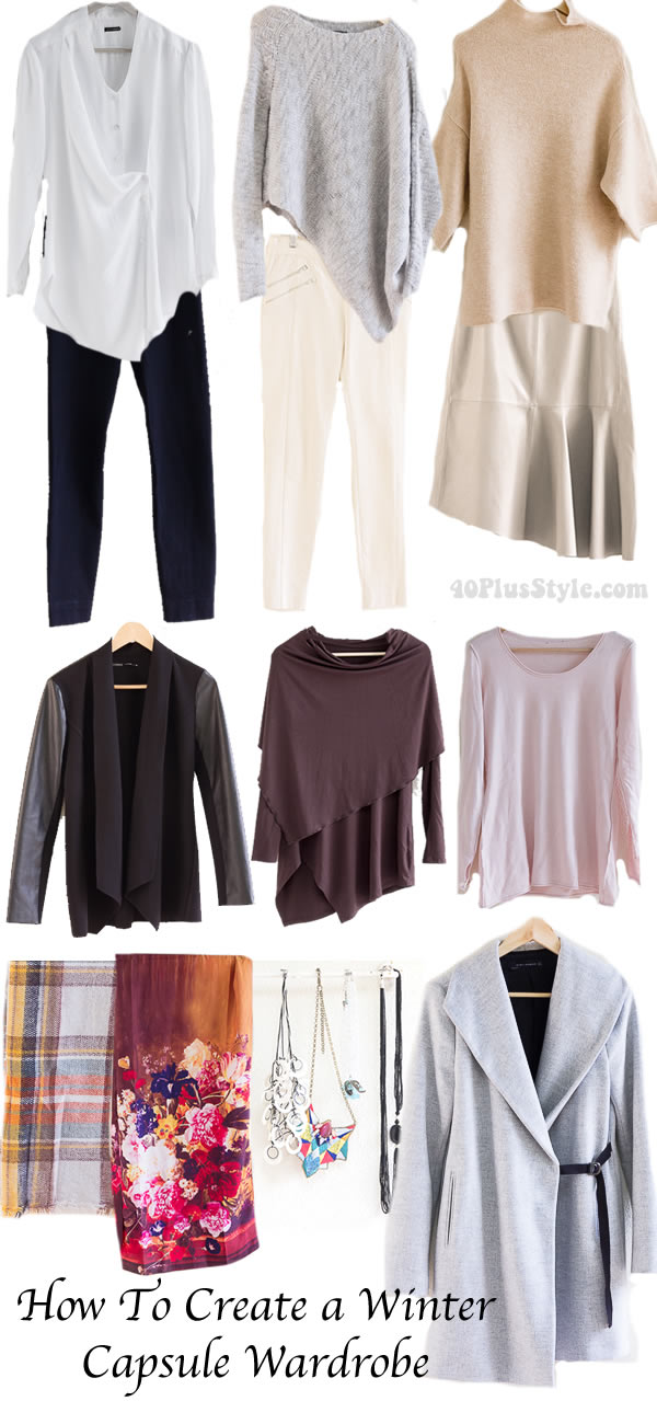 Post image for How to create lots of outfits with a capsule wardrobe for winter