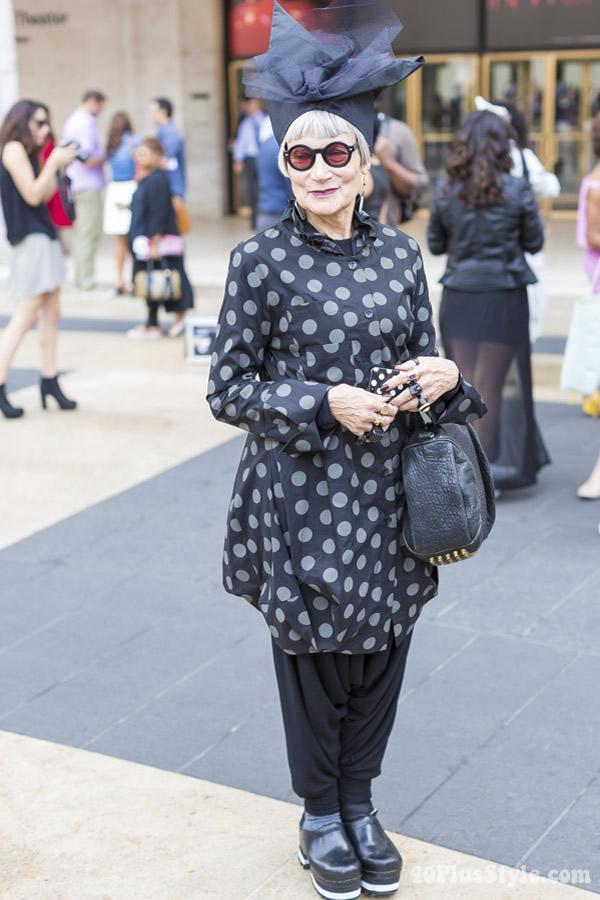 Idiosyncratic Fashionista Jean | 40plusstyle.com