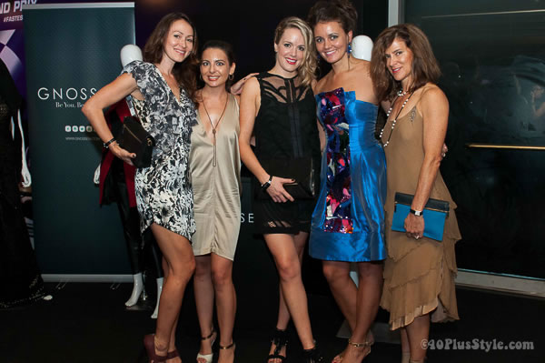 Ladies all dressed up at Gnossem fashion party Singapore | 40plusstyle.com