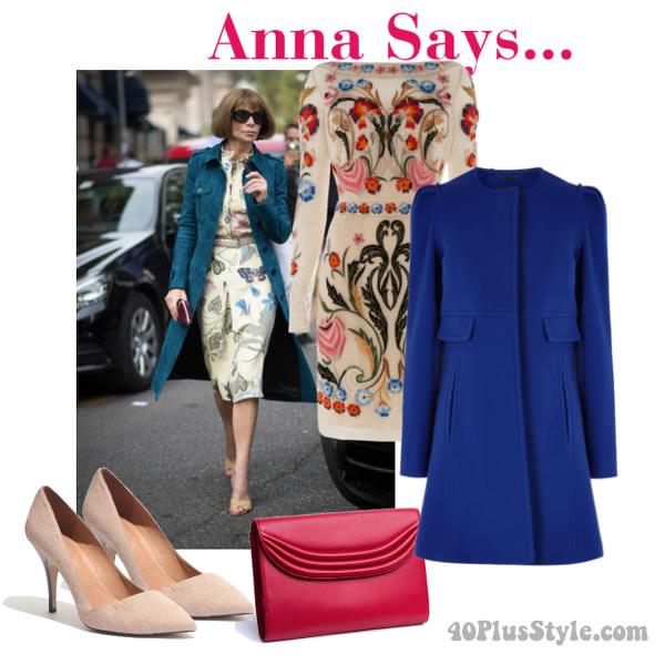 how to dress like Anna Wintour | 40plusstyle.com