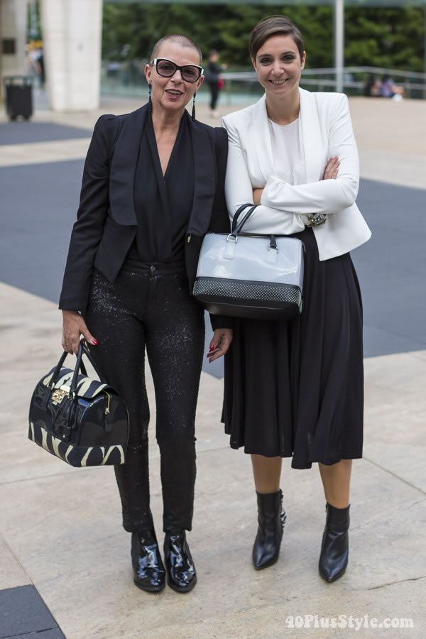 Looking modern and chic in black and white | 40plusstyle.com