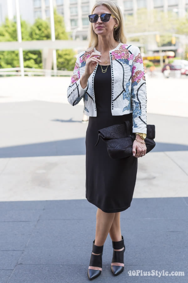 colorful and printed jackets! | 40plusstyle.com