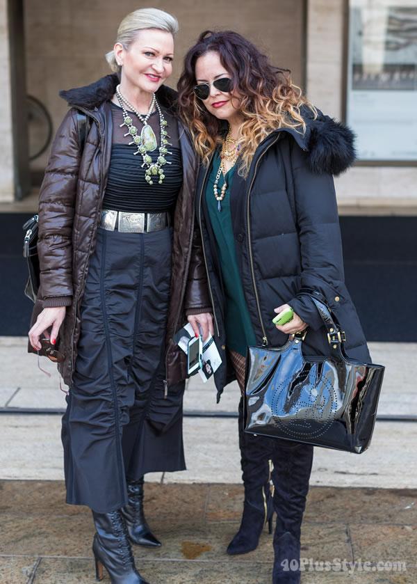 Jamie at New York Fashion week | 40plusstyle.com