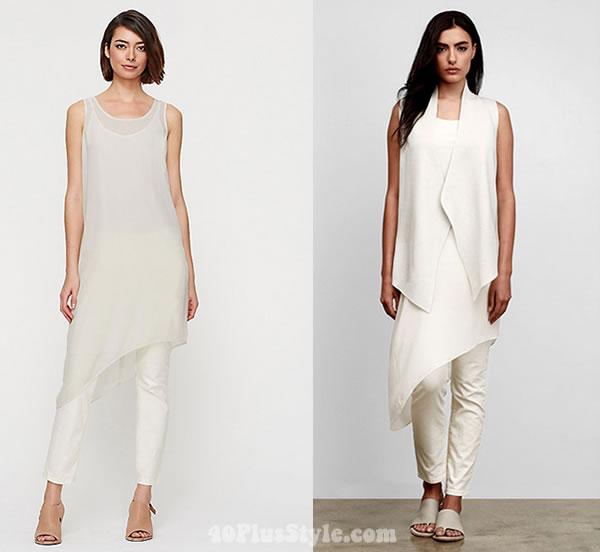Eileen Fisher silk tunics | 40plusstyle.com