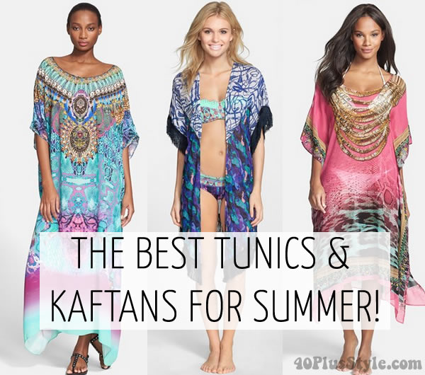 Best tunics and kaftans for summer | 40plusstyle.com
