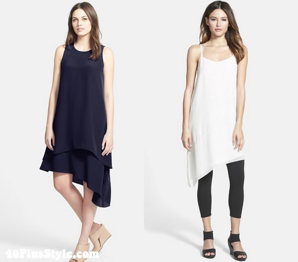 Eileen Fisher silk dresses | 40plusstyle.com