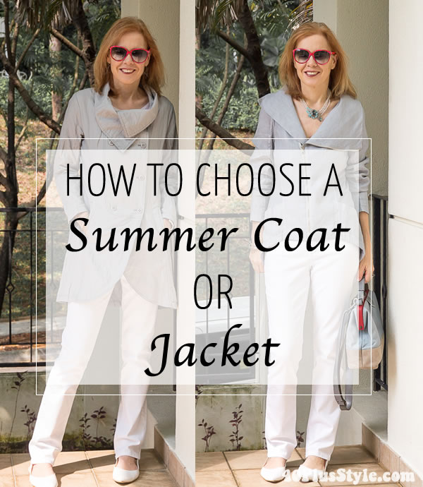 How to choose a summer coat or jacket + the best coats to buy online | 40plusstyle.com