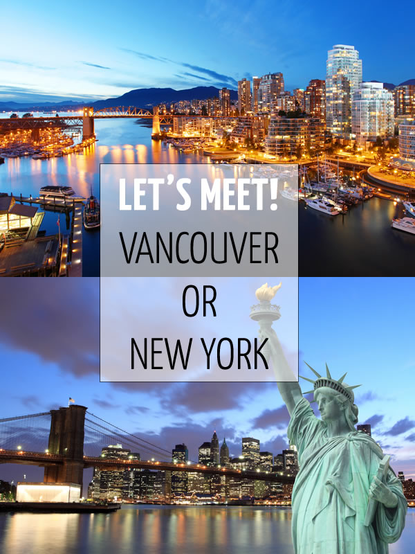 Meeting up in Vancouver or New York | 40plusstyle.com