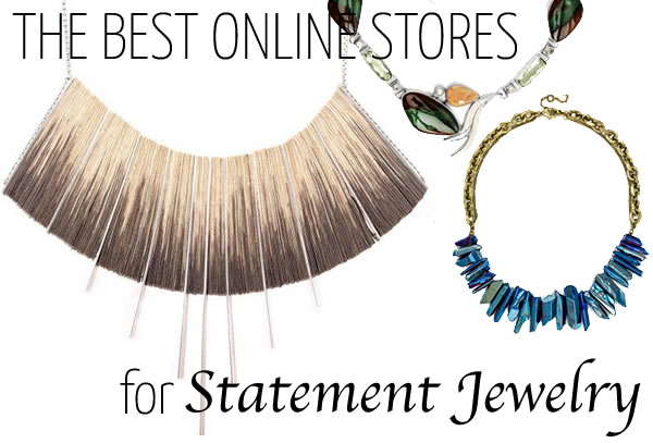 The best online jewelry stores for statement jewelry | 40plusstyle.com