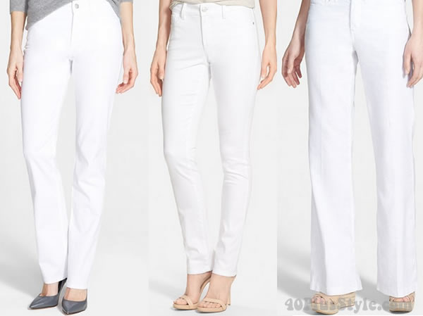 NYDJ white jeans | 40plusstyle.com