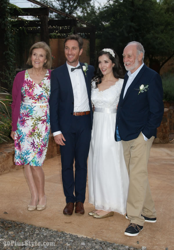 Thebrideandgroomwithparents