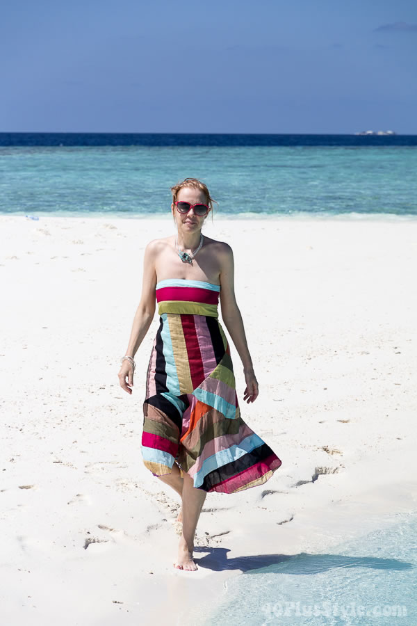 Post image for A tropical summer dress on a sandbank in the Maldives