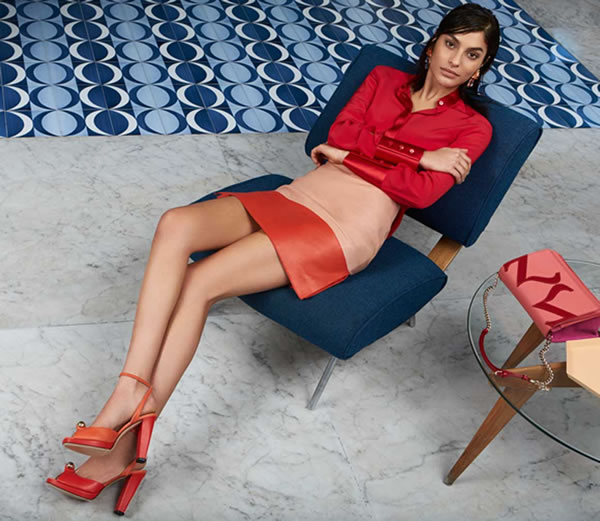 How to wear red over 40 - Peach and red combination ...