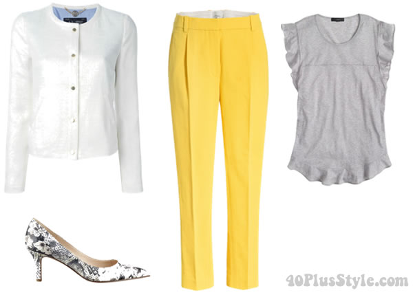 How to wear summer brights in a chic way | 40plusstyle.com