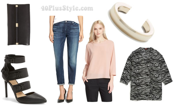Fabulous and on sale this week: Jeans worn in 4 different ways: evening out | 40plusstyle.com