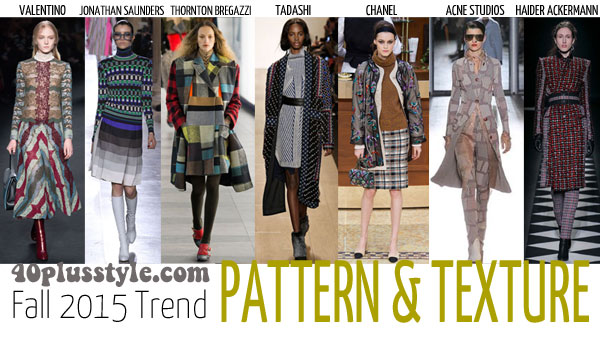 The best trends for fall 2015 for women over 40 - Pattern   40plusstyle.com