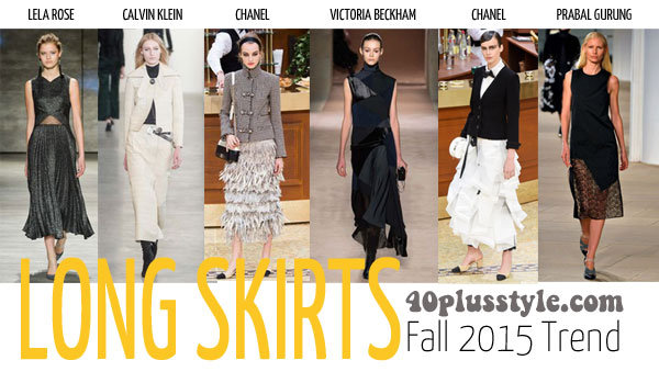 The best trends for fall 2015 for women over 40 - skirt   40plusstyle.com