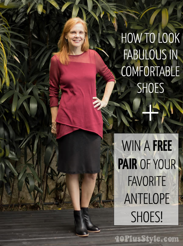 How to look fabulous in comfortable shoes - Plus win a new pair from Antelope Shoes! | 40plusstyle.com