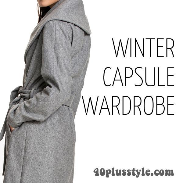 A capsule wardrobe for winter 2015 - Cynthia's picks!   40plusstyle.com