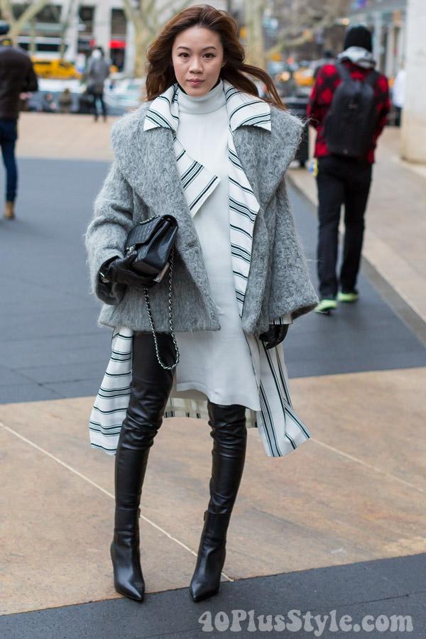 Leather Leggings Turtleneck Chanel | 40plusstyle.com
