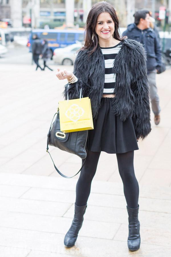 Fur Coat A-line Skirt | 40plusstyle.com