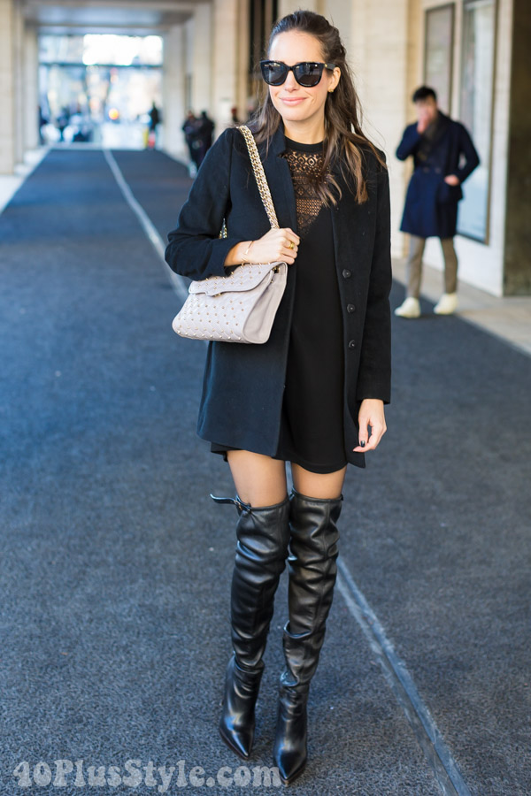 black thigh high boots | 40plusstyle.com