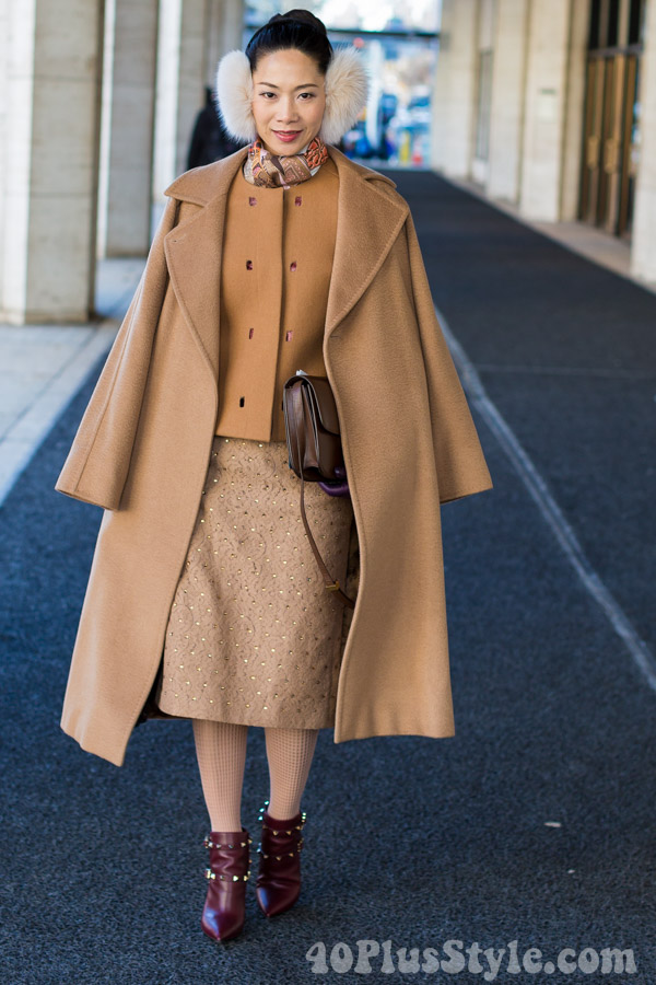 Streetstyle inspiration: wearing camel - Which of these 8 outfits is your favorite? | 40plusstyle.com