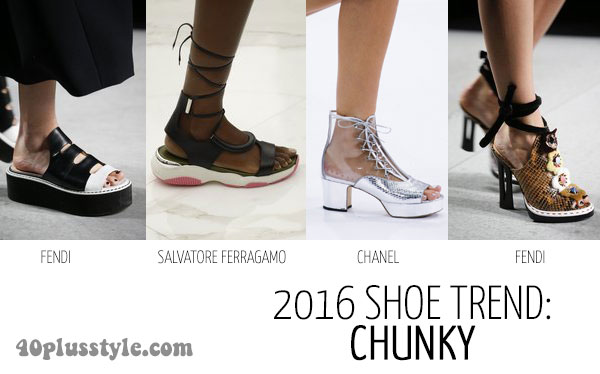 shoe trends for 2016: chunky