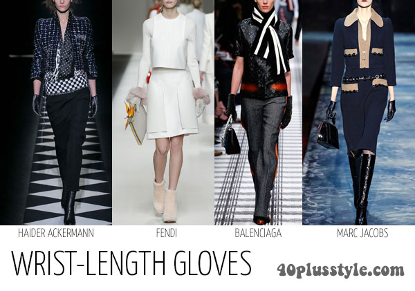 How to wear gloves as a stylish accessory for winter - wrist gloves  40plusstyle.com