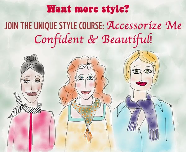 Style course: Accessorize Me Confident & Beautiful | 40plusstyle.com